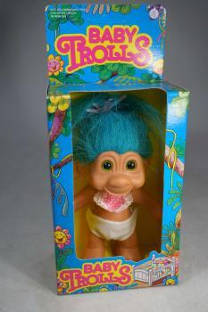 vintage 1990's - Baby Trolls - Troll Figur (14cm) #1 - MIB