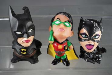 1990's Batman , Robin, Catwoman - Squeezer / Quietschfiguren Set #79