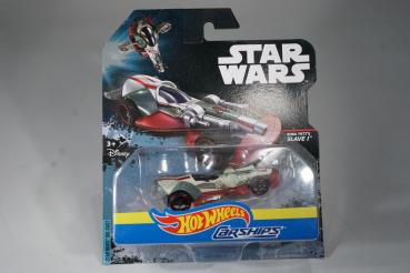 Hot Wheels - Star Wars - Carships - Boba Fett's Slave 1 - Diecast Model Car - MOC